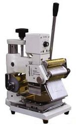 Hot foil stamping machine,  tipper for PVC card, leather.